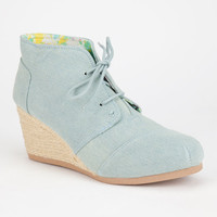 Qupid Olee Womens Booties Denim  In Sizes