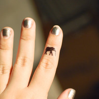 Mini Elephant Temporary Tattoo Set
