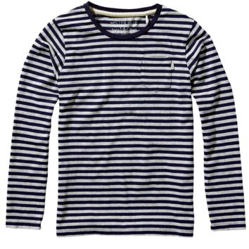 Scotch & Soda Boys Grey Long-Sleeved Striped T-shirt