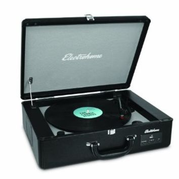 Electrohome Archer Vinyl Record Player Classic Turntable Stereo System with Built-in Speakers, USB for MP3s, Headphone Jack, & AUX Input for Smartphones, Tablets, (EANOS300)