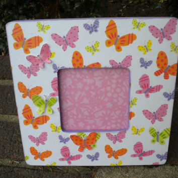 Butterfly Embellished Picture Frame 8 x 8 by lilaccottagecards