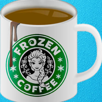 disney frozen starbucks logo mug heppy coffee.