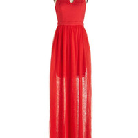 ModCloth Long Sleeveless Maxi Embraced by Elegance Dress