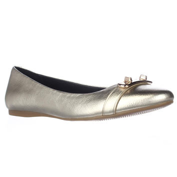 Coach Merilyn Turnlock Ballet Flats, Platinum, 6 US