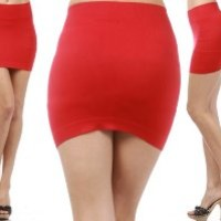 KMystic Stretch Seamless Solid Basic Mini Skirt