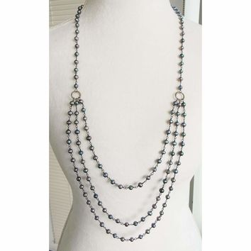 Vintage Freshwater Pearl Triple Strand Necklace