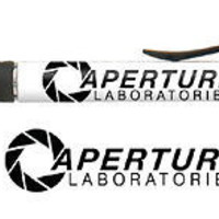 Portal 2 Video Game Aperture Laboratories Labs black ink pen