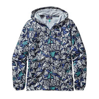 Patagonia Women's Light and Variable Hoody- Quiver and Quill Grande- Navy Blue