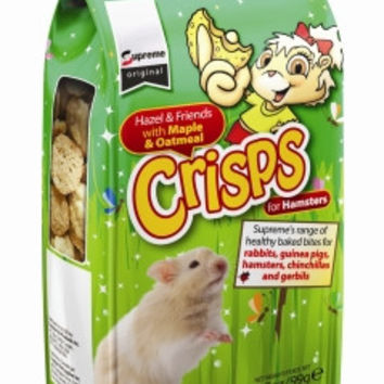 Supreme Hazel & Friends Maple & Oatmeal Crisps Hamster Treats, 3.5 oz.