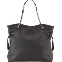 Marion Slouchy Tote Bag, Black - Tory Burch