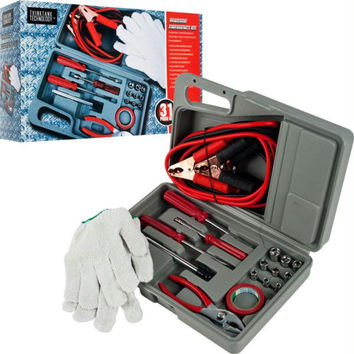 Roadside Emergency Tool and Auto Kit - 30 Pieces