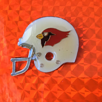 1985 Cardinals Helmet Pin! Super Bowl Collector Pin Ear Hole Edition Shiny Metal Glossy Good Condition New Rare Vintage Retro Nfl Great Gift
