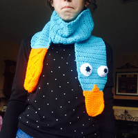 Perry the Platypus Scarf Crochet Disney Handmade