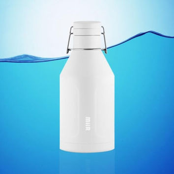 MiiR 64 Oz Vacuum Insulated Growler Water Bottle White