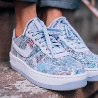 Nike High Quality New Air Force 1 Upstep Low Diamond Crystal Shoes Sport Sneakers