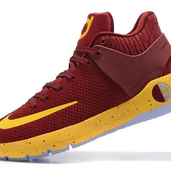 VAWA Nike Zoom KD 5 Durant Knitting Basketball Shoes Wine Red
