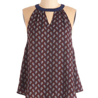 ModCloth Boho Mid-length Sleeveless Just Breezing By Top