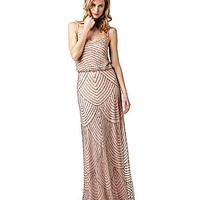 Adrianna Papell Beaded Gown | Dillards.com