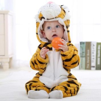 Baby rompers tiger cartoon baby boys girls clothing new born baby clothes winter Jumpsuit christmas mamelucos para bebes Tigor