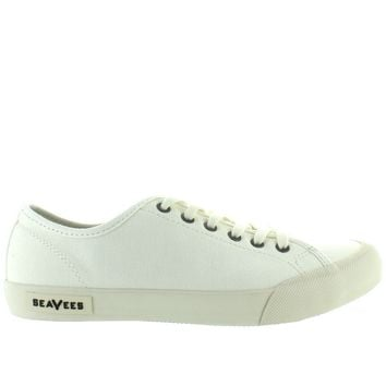 SeaVees Monterey Standard - Bleach Canvas Lace Sneaker