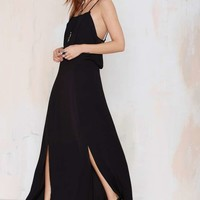 Deuces Are Wild Crepe Maxi Dress