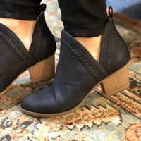 Vegan Black Booties