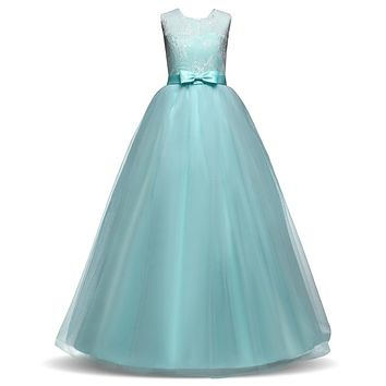 Flower Girl Dress For Wedding Teen Girl Outfits Girls Dresses Girl Kids Long Dress Party Wear