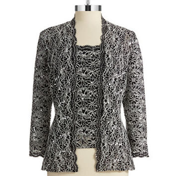 Alex Evenings Two Piece Cardigan Set
