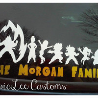 Dragon Ball Z Family Car Decal