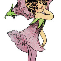 Fairy Image, Fairy Cutout, Flower Fairy Image, Large Vintage Storybook Graphics Sheet[[Flower Child]] Fairy Template, Transparent Background