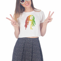 Bob Marley For Womens Crop Shirt **