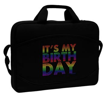 "It's My Birthday - Candy Colored Dots 15"" Dark Laptop / Tablet Case Bag by TooLoud"