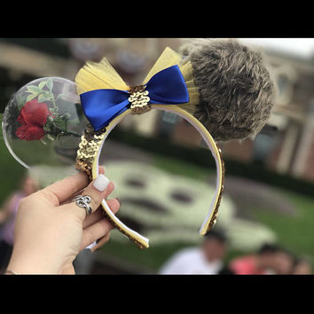 Beauty and the Beast Disney Ears Minnie Mouse ears