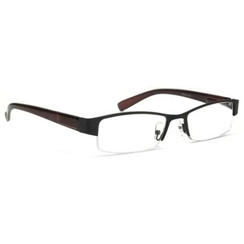 NWT Half Frame Optical Reading Glasses Men Women Reader Metal Spring Hinge Frame