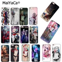 MaiYaCa Harley Quinn Suicide Squad Joker Wink Luxury Phone Accessories Case for Apple iPhone 8 7 6 6S Plus X 5 5S SE 5C case