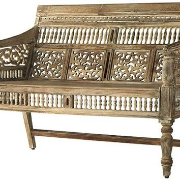 Maharaja Settee - Benches - Entryway - Furniture | HomeDecorators.com