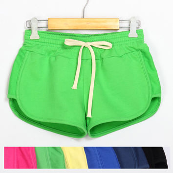 Sports Elastic Waist Women Shorts