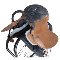 Double Visitor Saddle Small Short Horse Equestrian Supplies
