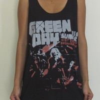 Green Day Unisex Vest TankTop Singlet T-Shirt Retro Rock Punk Pop Blink 182 Sum 41 My Chemical Romance The Offspring