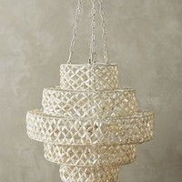 Biarritz Tiered Chandelier by Anthropologie White One Size Lighting