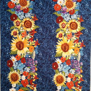 MY SUNSHINE Sunflowers Daisies Bright Colors Floral Detail Quilting Novelty Premium Print Excellent Fabrics for Creative Genius Projects