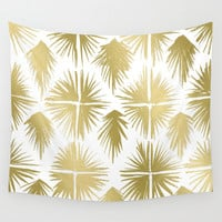 Radiate Gold Wall Tapestry by Caitlin Workman