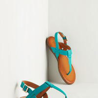 Boho We've Yacht a Situation Sandal in Aqua by ModCloth