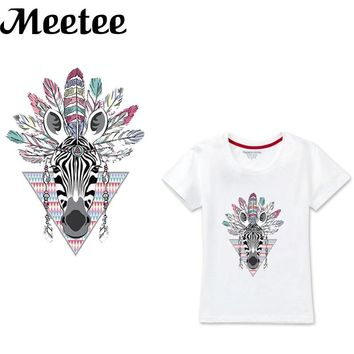 Men Women T-shirt DIY Iron On Patches Heat Transfer Washable Press Stickers Animal Patch For Clothing Decor Sewing Accessory