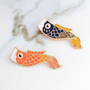 Nishikigoi pin Koi pin Japanese fish pins Badges Brooch Hard enamel badge Japanese jewelry Denim jackets Backpack Accessories