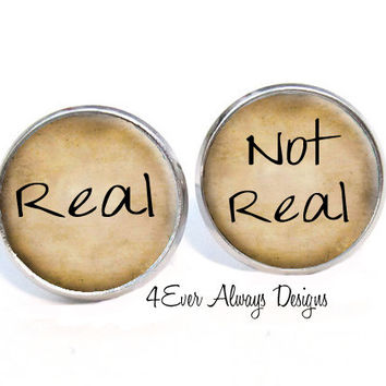 Real Not Real Earrings