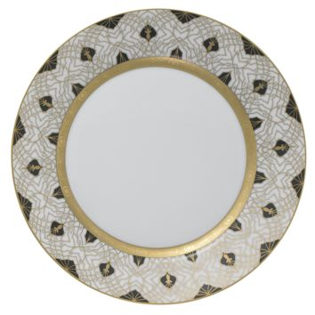 Farahnaz Black Dinner PLate