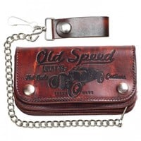 "MEN'S ""OLD SPEED"" WALLET BY LUCKY 13 APPAREL (BROWN)"