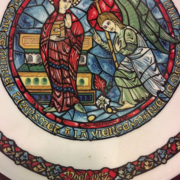 Religious Christmas Plate Collectible Christmas Plate Limoges Hand Painted Plate Vintage Christmas Decor Gift Idea Collector Plate