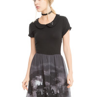 Harry Potter Hogwarts Landscape Skater Dress
